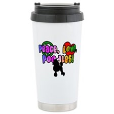 Hippie Poodle Ceramic Travel Mug