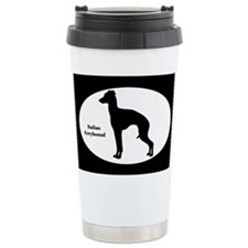 Italian Greyhound Silhouette Ceramic Travel Mug