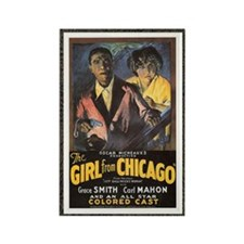 girl form chicago Rectangle Magnet