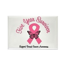 Breast Cancer (5 Yrs) Rectangle Magnet