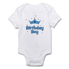 1st Birthday Boy (crown) Infant Bodysuit