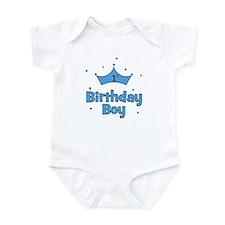 1st Birthday Boy (crown) Infant Bodysuit