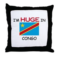 I'd HUGE In CONGO Throw Pillow