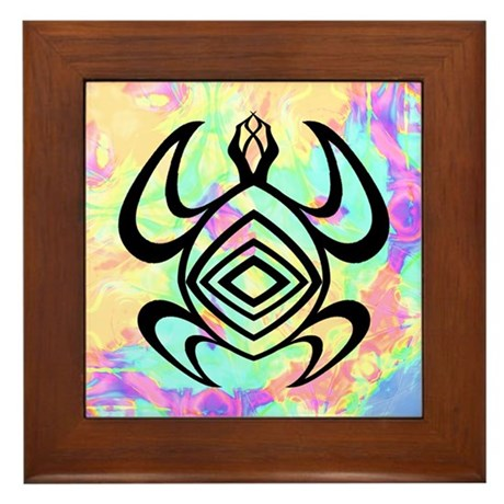 Turtle Symmetry Framed Tile
