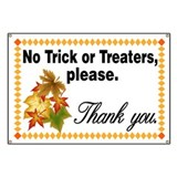 No Trick or Treaters, Please - Fall Motif Banner