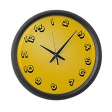 13 Hour Clock Large Wall Clock
