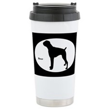 Boxer Silhouette Ceramic Travel Mug