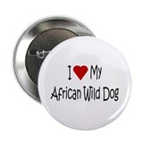 "I Love My African Wild Dog 2.25"" Button"