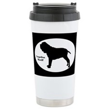 Neapolitan Mastiff Silhouette Ceramic Travel Mug