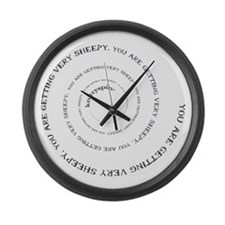 Knittyspin is making you sheepy! Large Wall Clock