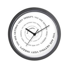 Knittyspin is making you sheepy! Wall Clock