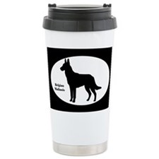 Malinois Silhouette Ceramic Travel Mug