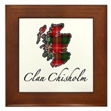 Clan Chisholm Map - Framed Tile