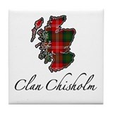 Clan Chisholm Map - Tile Coaster