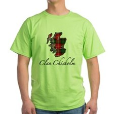 Clan Chisholm Map - T-Shirt