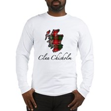 Clan Chisholm Map - Long Sleeve T-Shirt