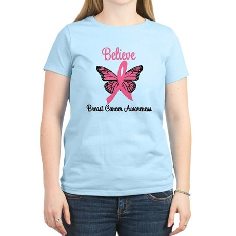 Believe Breast Cancer Women's Light T-Shirt