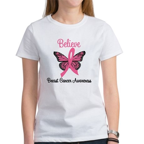 Believe Breast Cancer Women's T-Shirt