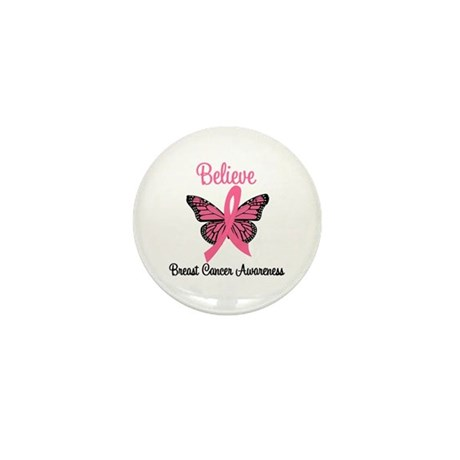 Believe Breast Cancer Mini Button