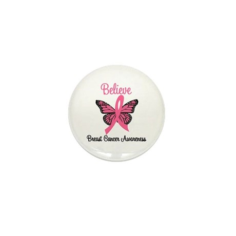 Believe Breast Cancer Mini Button (10 pack)