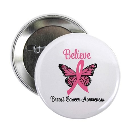 "Believe Breast Cancer 2.25"" Button (10 pack)"