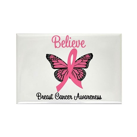 Believe Breast Cancer Rectangle Magnet (10 pack)