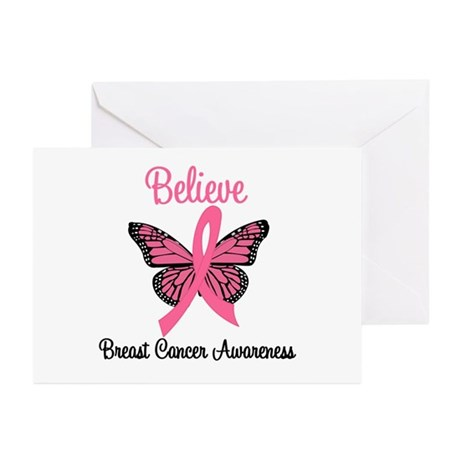 Believe Breast Cancer Greeting Cards (Pk of 10)