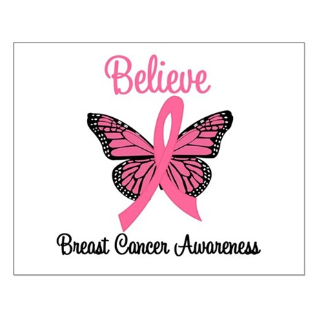 Believe Breast Cancer Small Poster