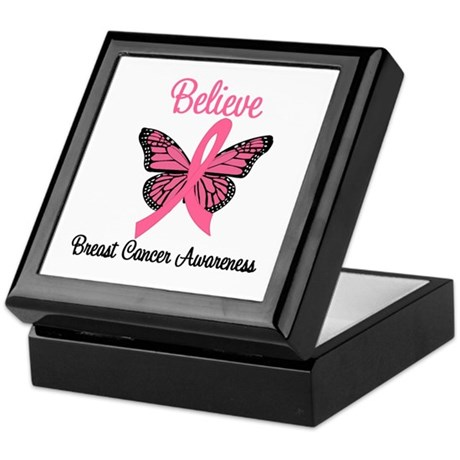 Believe Breast Cancer Keepsake Box