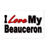 I Love My Beauceron Postcards (Package of 8)