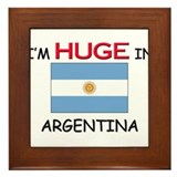 I'd HUGE In ARGENTINA Framed Tile