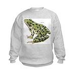 Leopard Frog (Front) Kids Sweatshirt