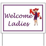 Welcome Red Hat Ladies Yard Sign