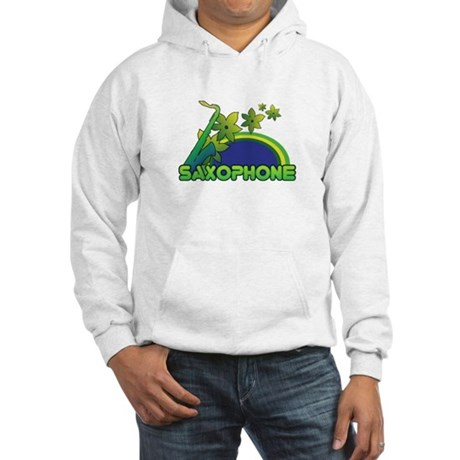 Retro Saxophone Hooded Sweatshirt