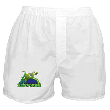 Retro Saxophone Boxer Shorts
