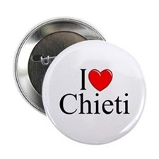 """I Love (Heart) Chieti"" 2.25"" Button"
