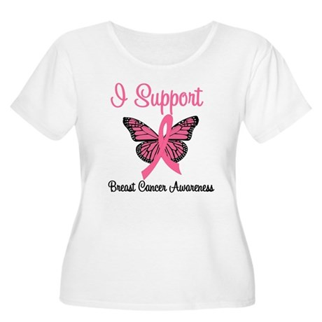 Breast Cancer Awareness Women's Plus Size Scoop Ne