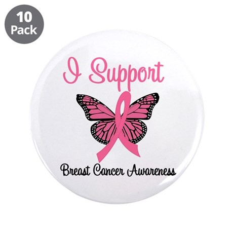 "Breast Cancer Awareness 3.5"" Button (10 pack)"