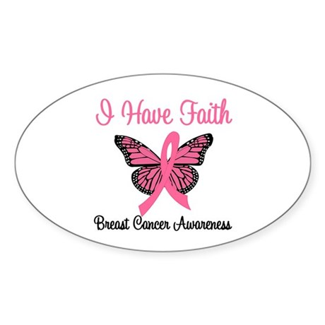 I Have Faith (BCA) Oval Sticker (10 pk)