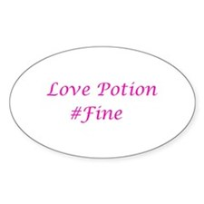 Love Potion #Fine Oval Decal
