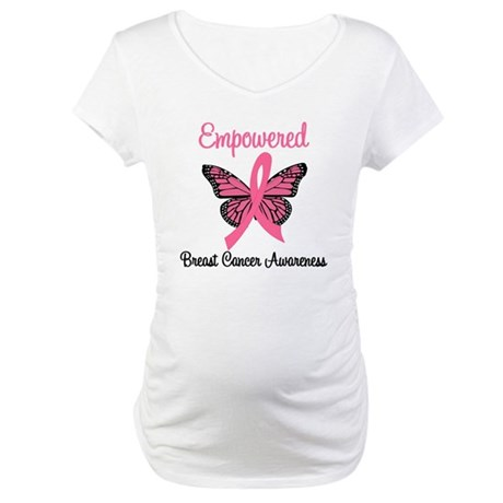 Empowered (Breast Cancer) Maternity T-Shirt