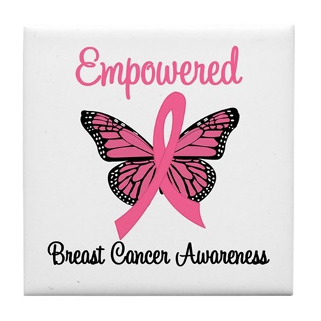 Empowered (Breast Cancer) Tile Coaster