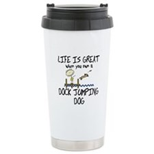 Life is Great Dock Jumping Ceramic Travel Mug