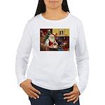 Santa's Pekingese (#1rd) Women's Long Sleeve T-Shi