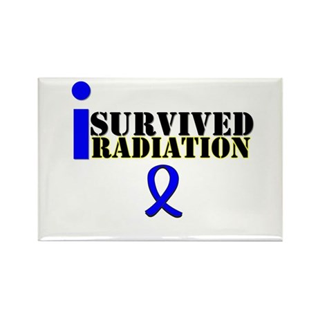 I Survived Radiation Rectangle Magnet (10 pack)