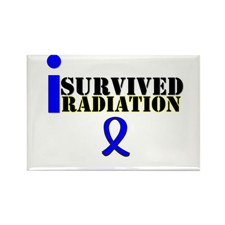 I Survived Radiation Rectangle Magnet