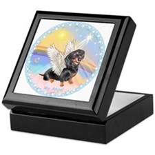 Clouds/Dachshund Angel Keepsake Box