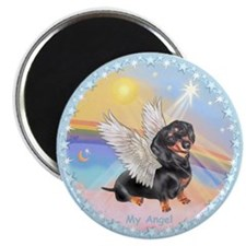 "Clouds/Dachshund Angel 2.25"" Magnet (10 pack)"