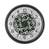 Celtic Spiral Stepping Stone Large Wall Clock