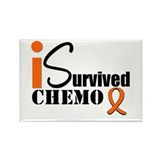 I Survived Chemo Rectangle Magnet